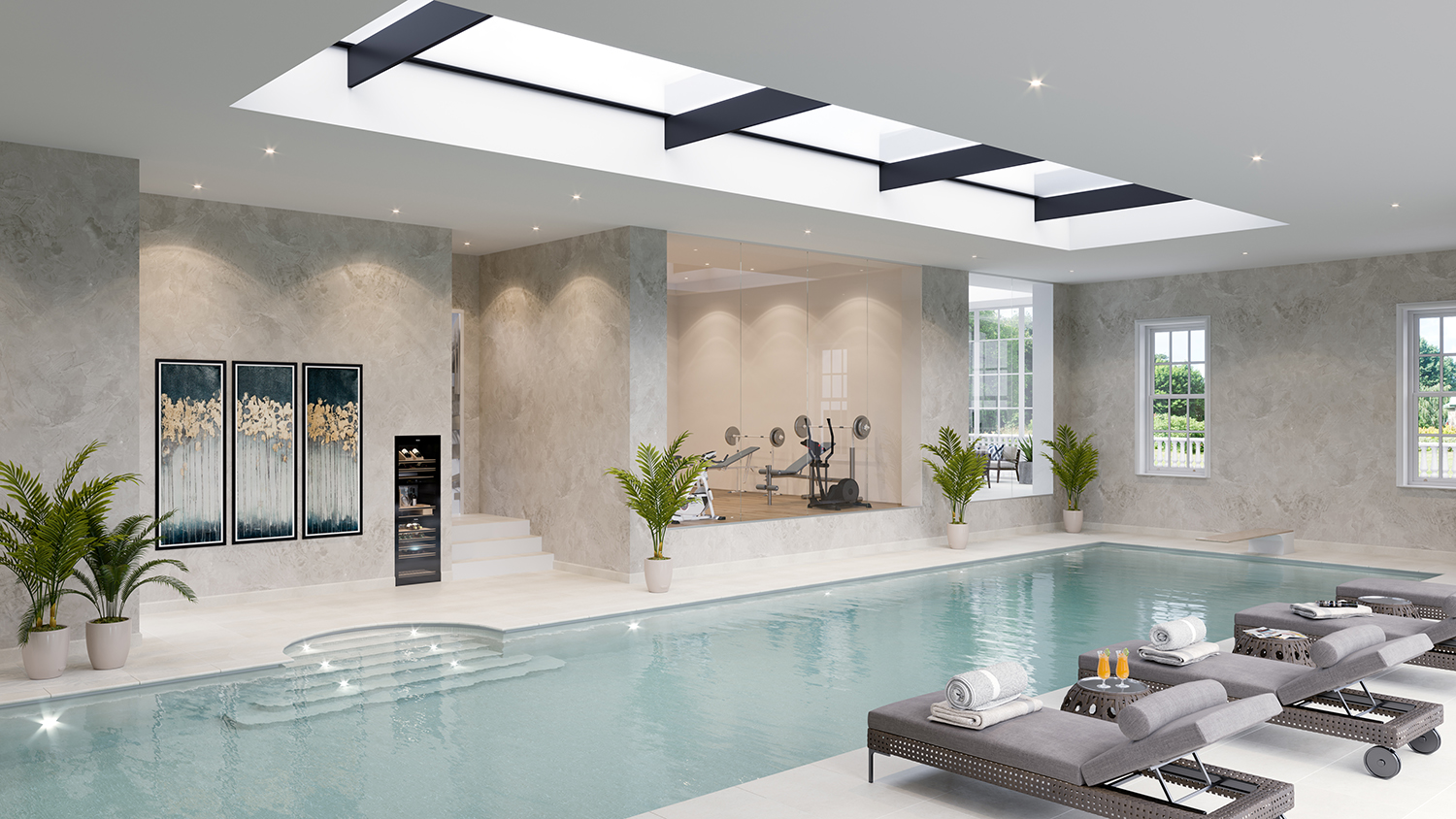 Wentworth virginia water swimming pool design london for Swimming pool design uk